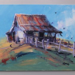 """Hilltop Barn"" Painting"