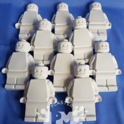 Block Men Bulk Plaster Painting Pack- 10, 12 0r 20 Pack