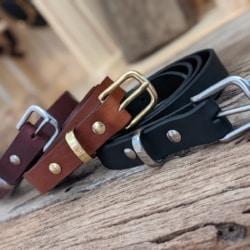 Australian leather solid brass belts