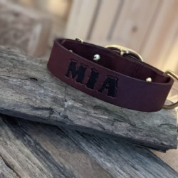 Redwood leather dog collars 38mm wide