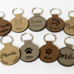 Horse ID Tag Faux Leather