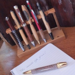 Hand Crafted 4 Coloured Olive Wood Pen