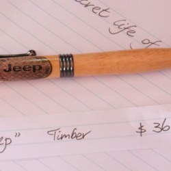 Hand Crafted Timber Jeep Pen