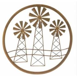 Metal Wall Art Windmill Trio