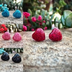 Love Heart Studs: 9 Colours (Stainless Steel, Lead & Nickel Free)