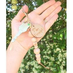 Organic Beechwood Keychain