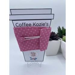 Coffee Kozie – Pink Dots