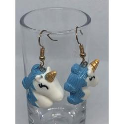 Blue Unicorn Earrings
