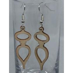Wooden Christmas Ornament Earrings