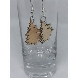 Wooden Tree Earrings