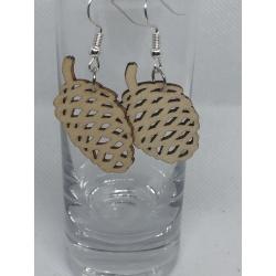 Wooden Acorn Earrings