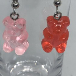 Red and Pink Gummy Bears Earrings