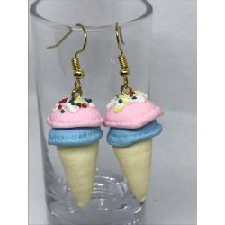 Clay Ice-Cream Earrings