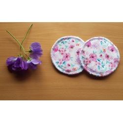Reusable Nursing Pads Pink Floral