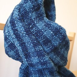 Natural dyed handwoven scarves – spray free home grown cotton – soft check style