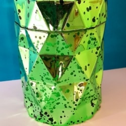 Hand poured soy wax candle scented in green diamond jar