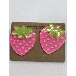 Pink Strawberry Studs