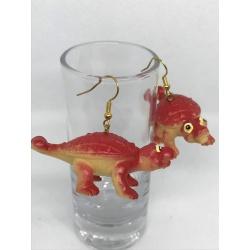 Red Dino Earrings