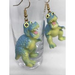 Blue Dino Earrings