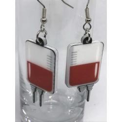 Blood Bags Earrings
