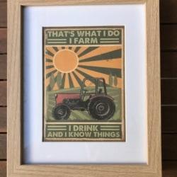 Vintage style print. Farm