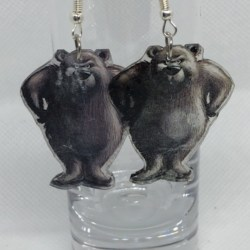 The Very Cranky Bear Earrings