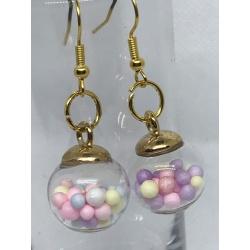 Pastel Glass Ball Drops