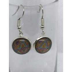 Rainbow Stripes Abstract Earrings