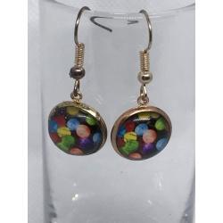 Rainbow Polka Dot Earrings