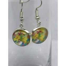 Rainbow Splotchy Earrings