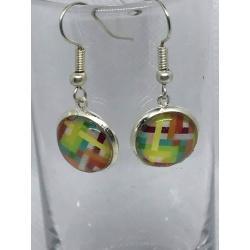 Rainbow Checked Earrings