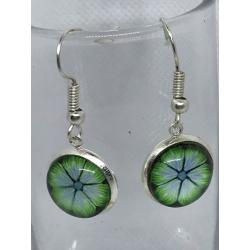 Green Flowers Earrings