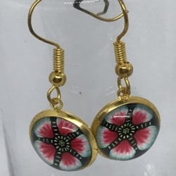 Pink Flowers Earrings