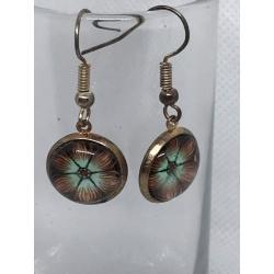 Brown Flower Earrings