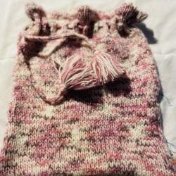 Hand Knitted Pyjama Bag / Dance Bag