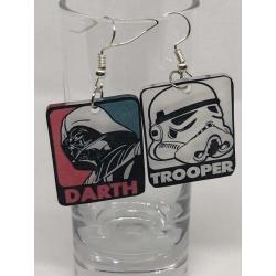 Star Wars Darth Vadar and Stormtrooper Earrings