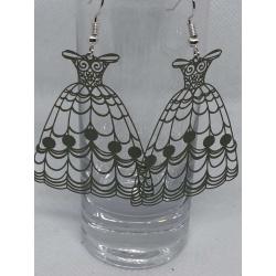 Khaki Filigree Dresses Earrings