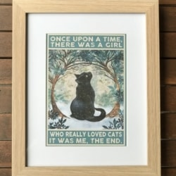 Vintage style print. Loved cats