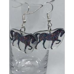 Multicolour Horse Earrings