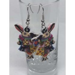 White Rabbit Earrings