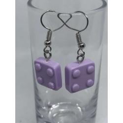 Purple Lego Block Earrings