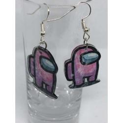 Among Us Earrings – Pink