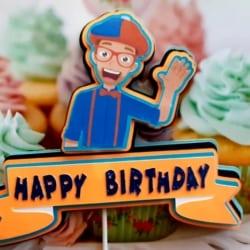 Blippi Cake Topper, 3d, Happy Birthday, Party decoration