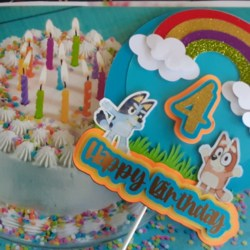 Bluey and Bingo Cake toppers