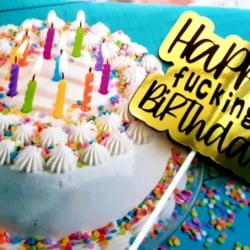 Funny, Happy Birthday, Adult, Cake topper