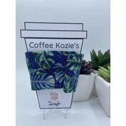 Coffee Kozie – Blue leaves