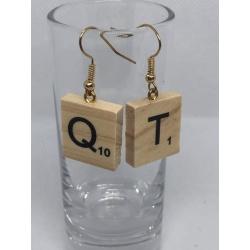 QT Scrabble Earrings