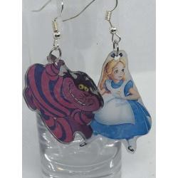 Alice & Cheshire Cat Earrings