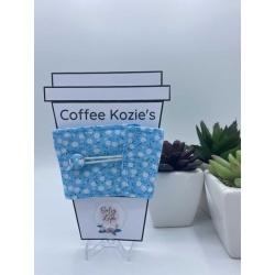 Coffee Kozie – Blue Daisy