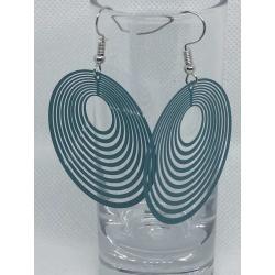 Turquoise Circular Filigree Earrings